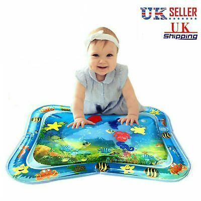 Inflatable Water Mat Baby Infant Toddlers Mattress Splash Playmat Tummy Time UK