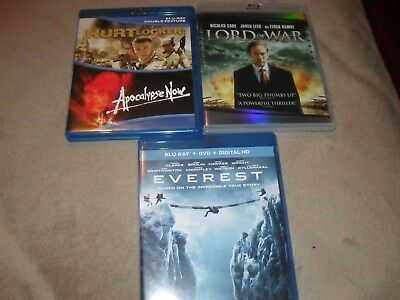 Blu-ray Lot Apocalypse Now (Both Cuts) The Hurt Locker Lord of War Everest