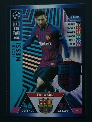 Champions League Match Attax 2018/19 Limited 100 Club MotM MS Topps UK pick