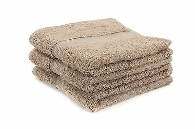 12 X Beige Luxury 100% Egyptian Cotton Hairdressing Towels / Salon / 50x85cm