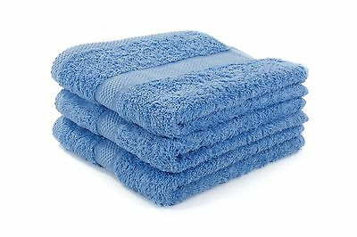 12 X Blue Luxury 100% Egyptian Cotton Hairdressing Towels / Salon / 50x85cm