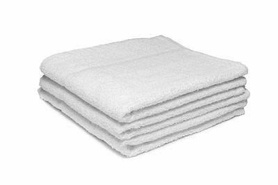 12 X White Hairdressing Towels / Beauty / Barber / Salon / Spa 450GSM 50x85cm