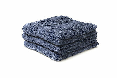 24 X Navy Luxury 100% Egyptian Cotton Hairdressing Towels / Salon / 50x85cm