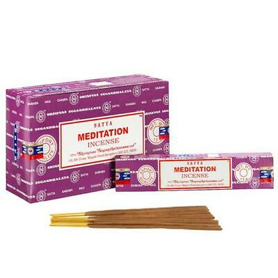 Original Incense Sticks Satya Meditation Insence 15g 12 Mixed Scents Yoga Pray