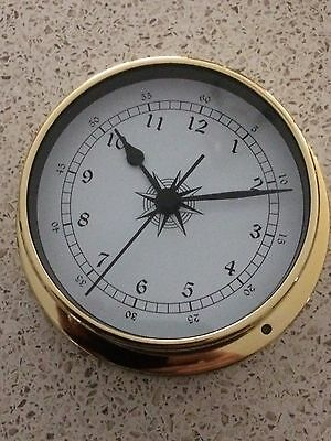 115 mm  DIAMETER Brass Clock