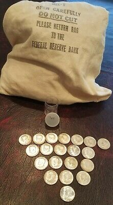 1964-P Kennedy Half-Dollars - 90% Silver 20-Coin Roll From Federal Reserve Bag!