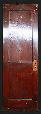 """2 avail 26""""W Antique Vintage Interior SOLID Wood Wooden Doors 2 Recessed Panels"""