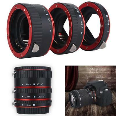 Macro Extension Adapter Tube Ring for Canon EOS EF Lens Camera 4.2-21cm Focusing