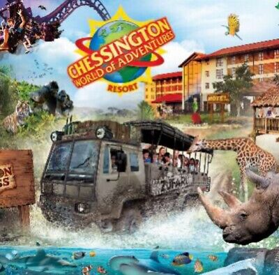2x Chessington World Of Adventure tickets - 23rd Of April 23/04/19