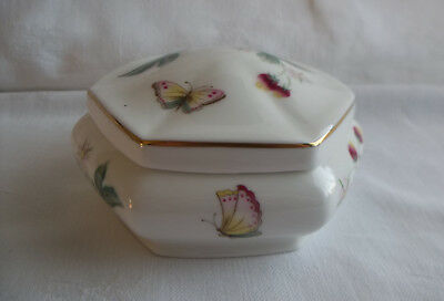 """Ashbourne"" English Fine China Hexagonal Lidded Trinket Dish - St Michael"