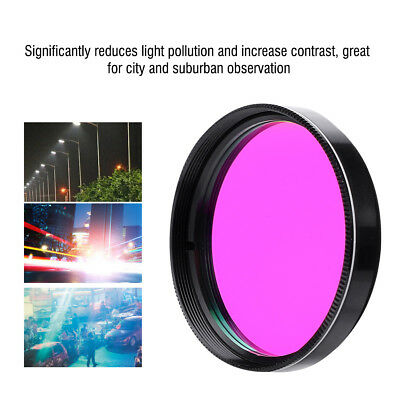 2inch Light Pollution Reduction Lens UHC Filter Deep Sky for Telescope Eyepiece