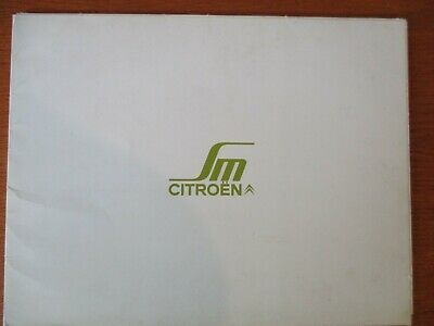 RARE : CATALOGUE OFFICIEL CITROËN SM hors commerce