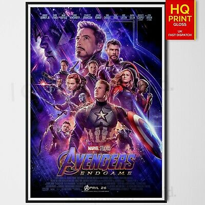 Avengers Endgame 2019 Marvel Cinematic Stan Lee Movie Poster | A4 A3 A2 A1 |