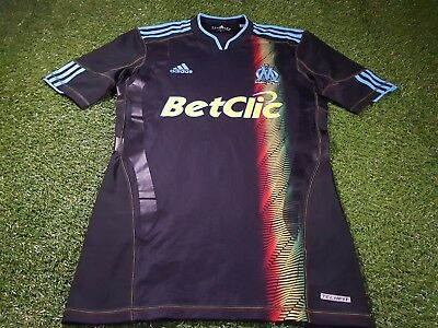 olympic marseille france french football large mans adidas player issue jersey