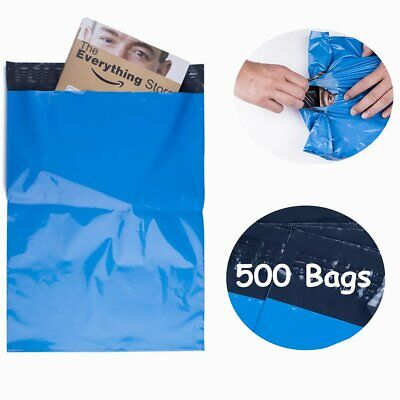 500 10x13 BLUE Poly Mailers Shipping Envelopes Couture Boutique Quality Bags 2.5