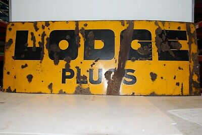 LODGE SPARK PLUG VINTAGE METAL SIGN VERY RARE ref B4V