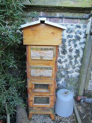 Cedar Warre BeeHive with 4 sections with observation windows