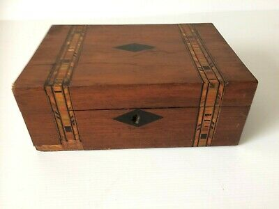 Vintage/Antique Inlaid/Parquetry Wooden Box