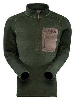 """Sitka Gear Core Midweight Zip T, Forest Medium - """"CLOSE-OUT"""""""