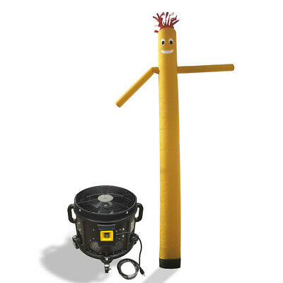 Air Inflatable Sky Puppet Great Dancer- 20 FT Plain Yellow With 3/4 HP Blower