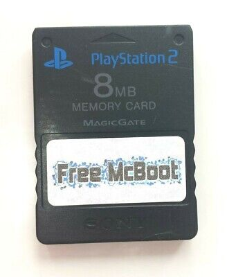 Free McBoot (FMCB) Version 1.966 / SONY PlayStation 2 Memory Card *Damaged*