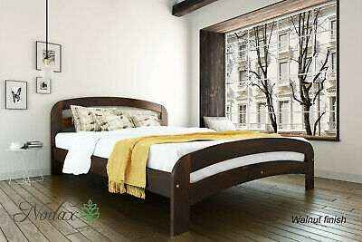 New solid wooden pine 6ft Super King Size bed frame with slats - 'F11' _COLOURS