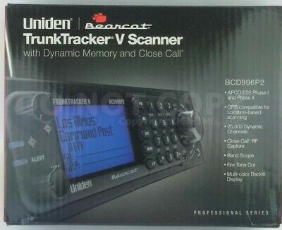 Uniden BCD996P2 Digital 25000 Channel 4 Line Display Base / Mobile Scanner NEW