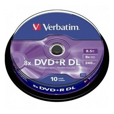 DVD DOBLE CAPA VERBATIM 8.5GB TARRINA 10 Uds.