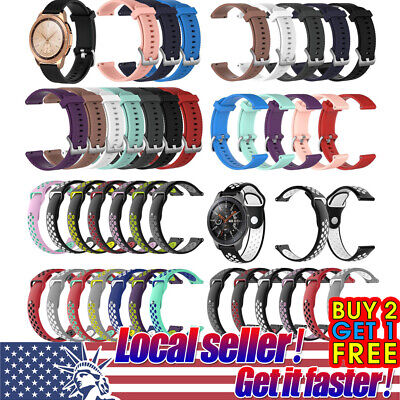 US Silicone Rubber Watch Band Wrist Strap For Samsung Galaxy Watch S4 Gear S3 xi