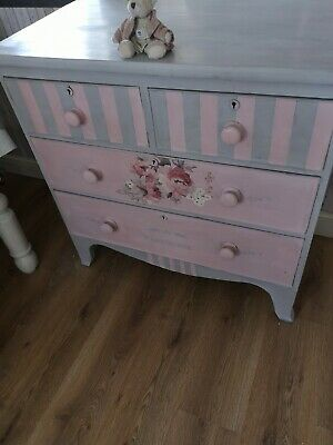 Refurbed Shabby Chic Antique Chest Drawers