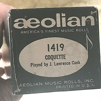 "Aeolian Player Piano Roll ""Coquette"" No.1419.  Good Condition!"