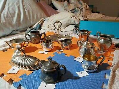 Assorted Vintage Silver Plate