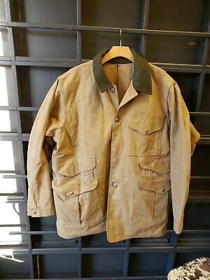 6b14e0854b7b0 Filson Heavy-Duty Hunting Jacket TIN CLOTH SKIN Men's 44 Style 66 TAN  Vintage