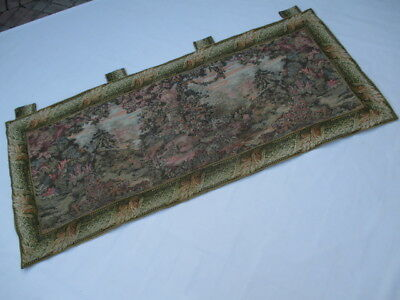 Old French / Belgium Tapestry Wall Hanging - 196 x 86 cm ( 4534 )