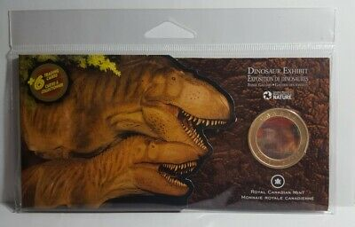 2010 Lenticular Coloured Dinosaur Exhibit 50 cents Coin + 6 Trading Cards