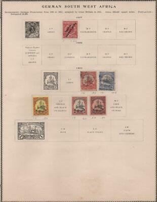 GERMAN SOUTH WEST AFRICA: 1897-1900 - Ex-Old Time Collection - Page (21918)