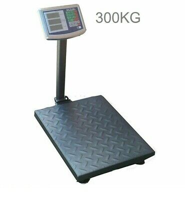 Bilico Bilancia Digitale 300Kg Elettronica Display Bascula Piatto 40 X 50 Cm