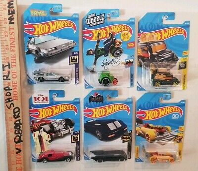 Hot Wheels 6 CHASE CAR LOT Back To The Future Time Machine Hover Mode BATMAN ++
