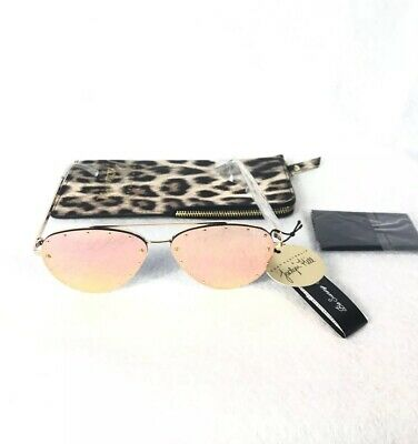 182cc2b1a6486 Quay Australia Roxanne Womens Sunglasses Jaclyn Hill Gold Rose   Cheetah  Case