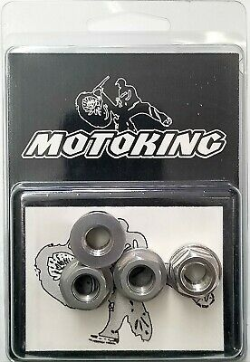 """Chrome Plated Flanged Axle Nuts 3//8/""""x26t Set of 4"""