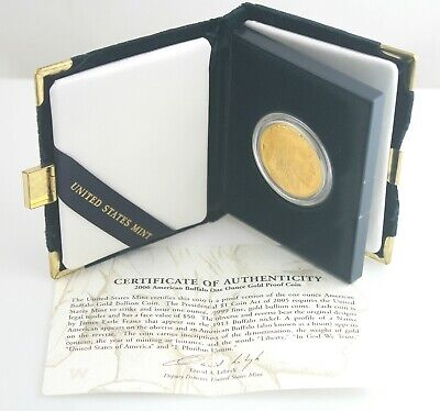 2006 American Buffalo Gold Coin $50 Fifty US Dollars 1 oz Proof with Box & COA