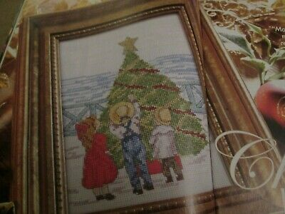 'Christmas By The Tree'  All Our Yesterdays Cross Stitch Chart Only