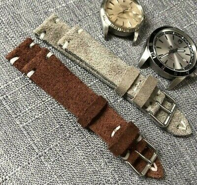 Vintage Italian Genuine Calf Leather  watch strap H/Made 20 21 22 24mm