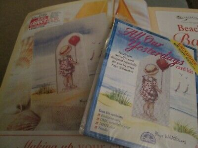 'Beach Babe'  All Our Yesterdays Cross Stitch Chart and Small Kit