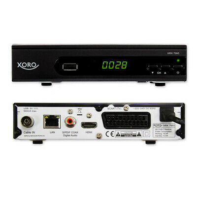 HRK 7660 SMART DVB-C HD Receiver (Alexa, Google Home, LAN, HDMI, USB 2.0, PVR)