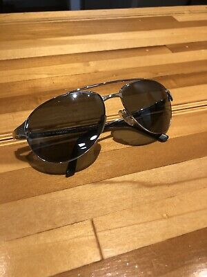 f7cba18b0a433 Cartier Edition Santos Dumont Silver Aviator Sunglasses Authentic Unisex