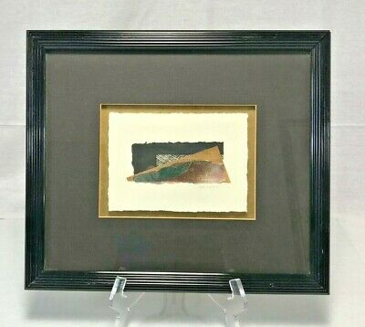 Framed Abstract Mix Media on Paper Signed