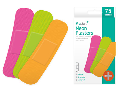 STERILE FABRIC PLASTERS 100 Breathable Sticky First Aid Wound Band Aids