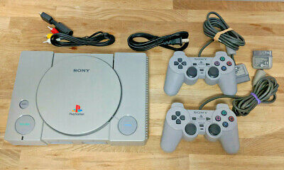 Refurbished Original PS1 PSX Sony Playstation System + Two Controllers + 1 Game