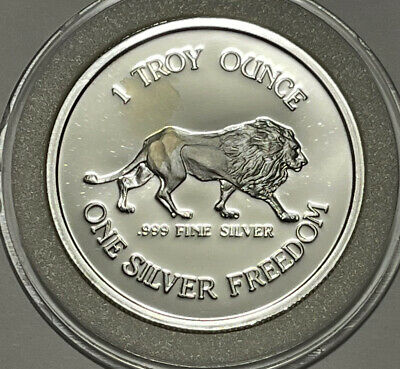 Coeur & Galena Mines D'Alene Proof Coin 1 Troy Oz .999 Fine Silver Round Medal